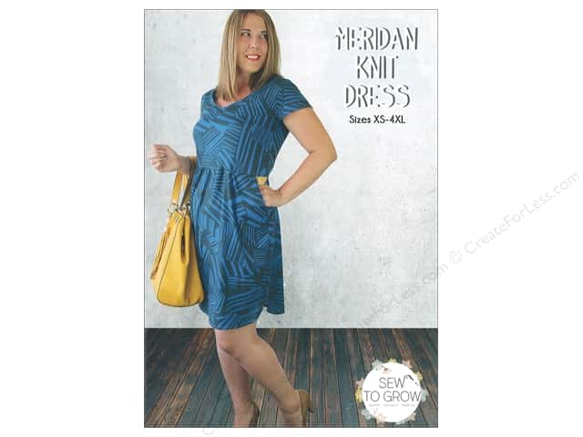 Sew To Grow Meridan Knit Dress Sizes XS-4XL Pattern