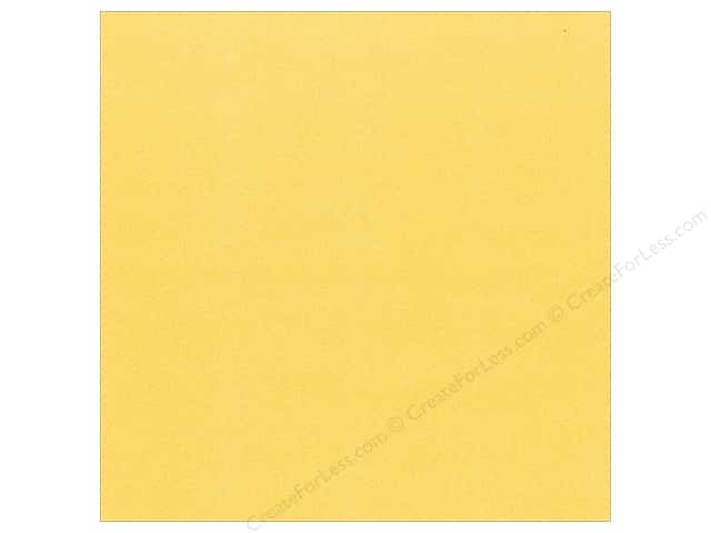 Best Creation 12 x 12 in. Cardstock Glitter Yellow (15 pieces)
