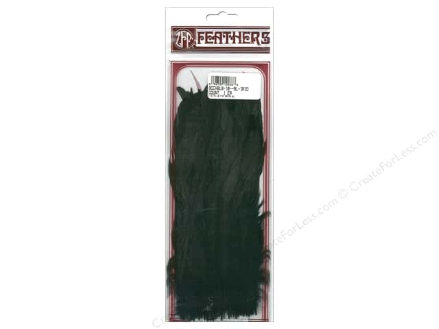 "Zucker Feather Rooster Plumage Coque 7-10"" Black 25pc"