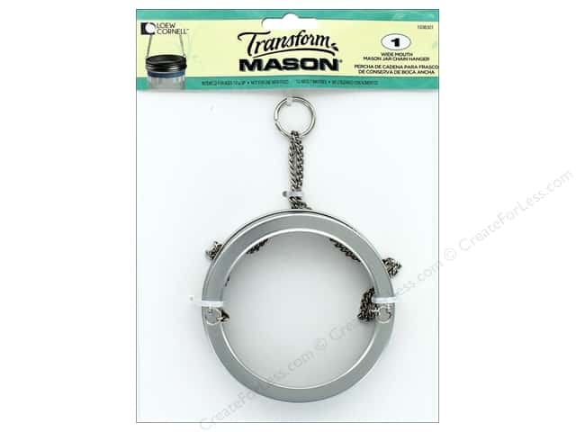Loew Cornell Transform Mason Mason Jar Chain Hanger 1 pc. Wide Mouth