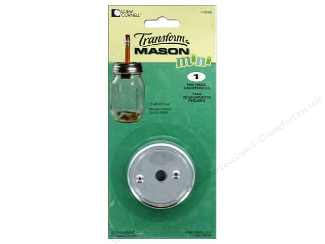 Loew Cornell Transform Mason Mini Pencil Sharpener Lid