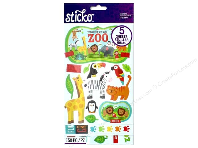 EK Sticko Stickers Flip Pack Zoo