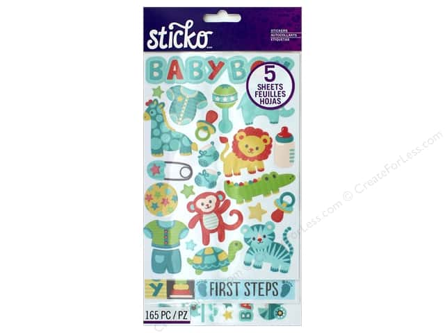 EK Sticko Stickers Flip Pack Baby Boy