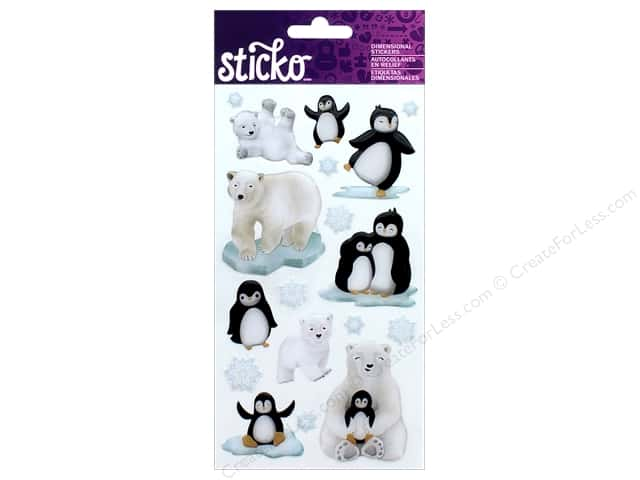 EK Sticko Stickers Penguins Polar Bears