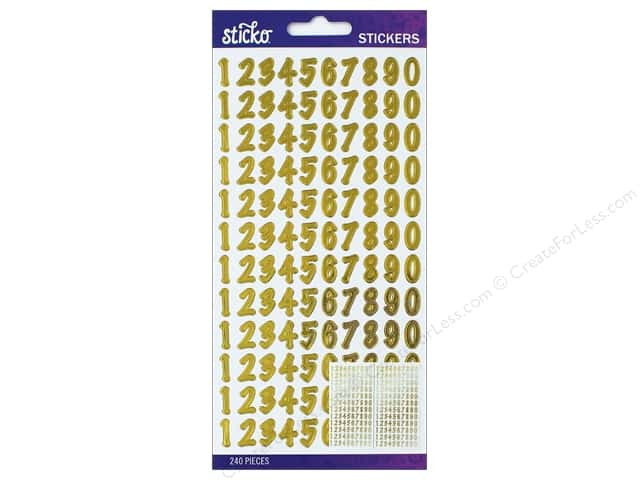 EK Sticko Stickers Number Dot Small Gold Foil