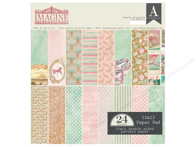 "Authentique Collection Imagine Paper Pad 12""x 12"""