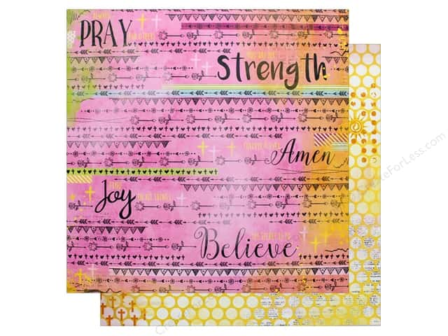 "Bo Bunny Collection Faith Paper 12""x 12"" Blessings (25 pieces)"