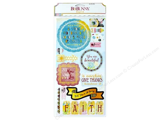 Bo Bunny Collection Faith Chipboard