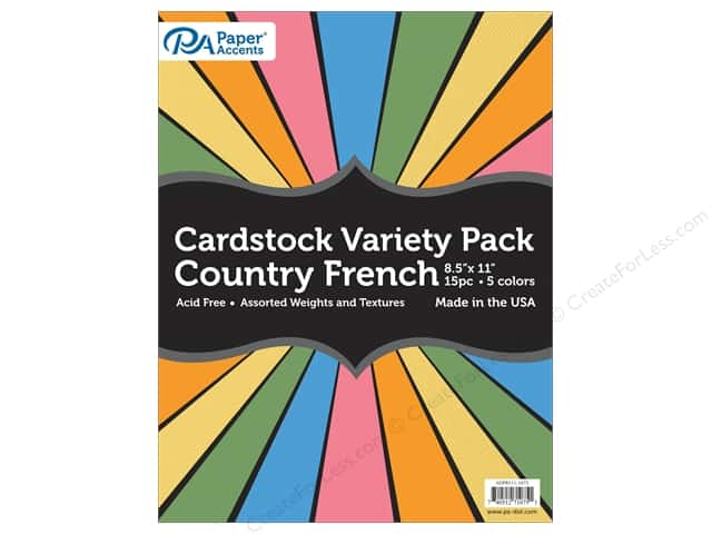 Paper Accents Cardstock Variety Pack 8 1/2 x 11 in. Country French 15 pc.