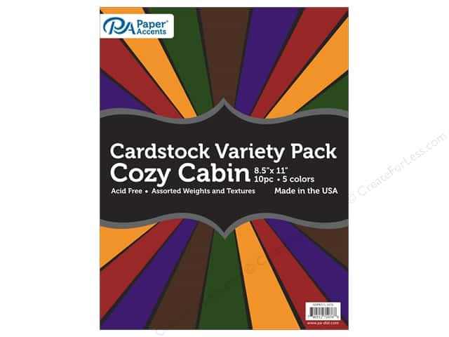 Paper Accents Cardstock Variety Pack 8 1/2 x 11 in. Cozy Cabin 10 pc.