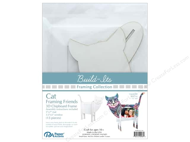 """Paper Accents Build Its Framing Friends 5""""x 7"""" Cat White"""
