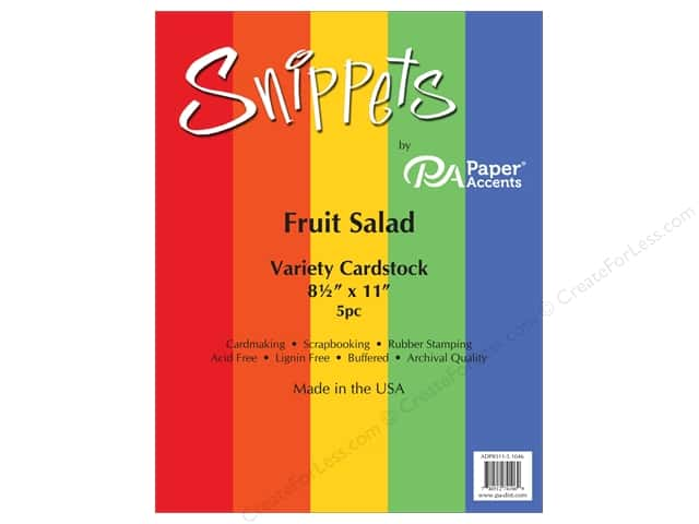 Paper Accents Cardstock Variety Pack 8 1/2 x 11 in. Fruit Salad 5 pc.