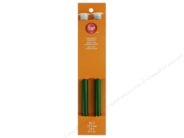 Boye Single Point Knitting Needles Aluminum 10 in. Size 17 (12.5 mm)