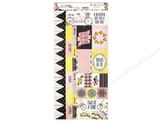 Bo Bunny Collection Petal Lane Sticker (12 sets)