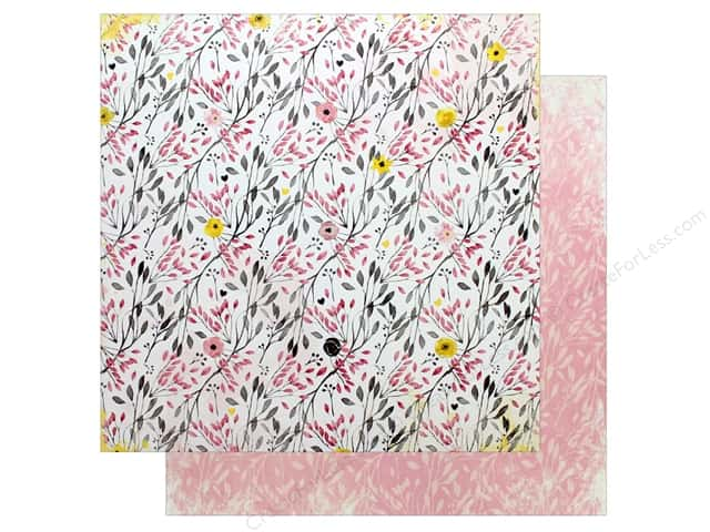 "Bo Bunny Collection Petal Lane Paper 12""x 12"" Sweet (25 pieces)"