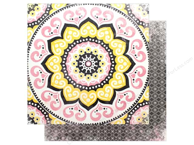 "Bo Bunny Collection Petal Lane Paper 12""x 12"" Mandalas (25 pieces)"