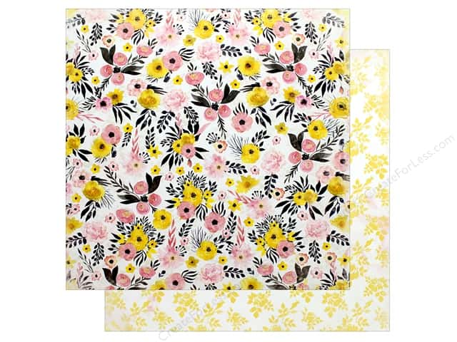 "Bo Bunny Collection Petal Lane Paper 12""x 12"" Hooray (25 pieces)"