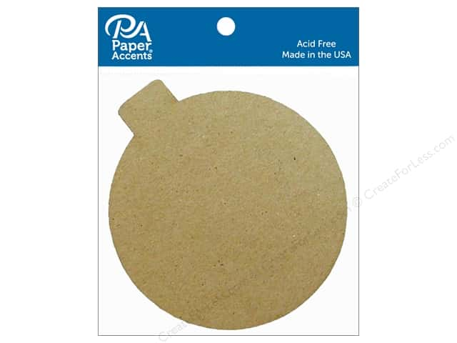 Paper Accents Chipboard Shape Ornament 8 pc. Natural
