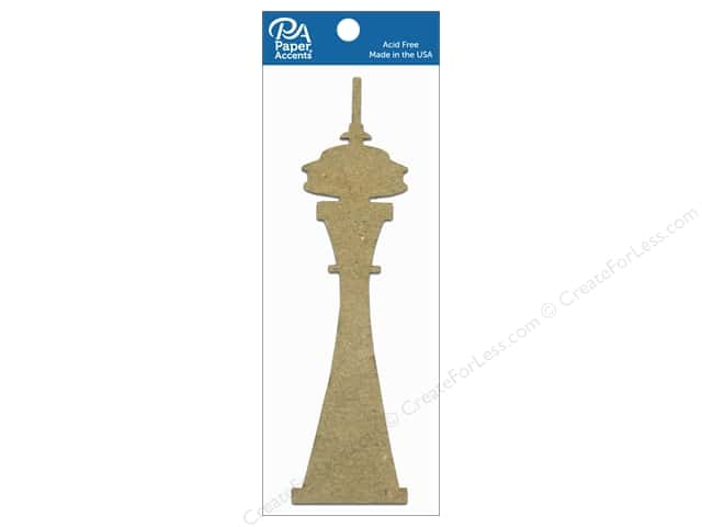 Paper Accents Chipboard Shape Space Needle 8 pc. Natural