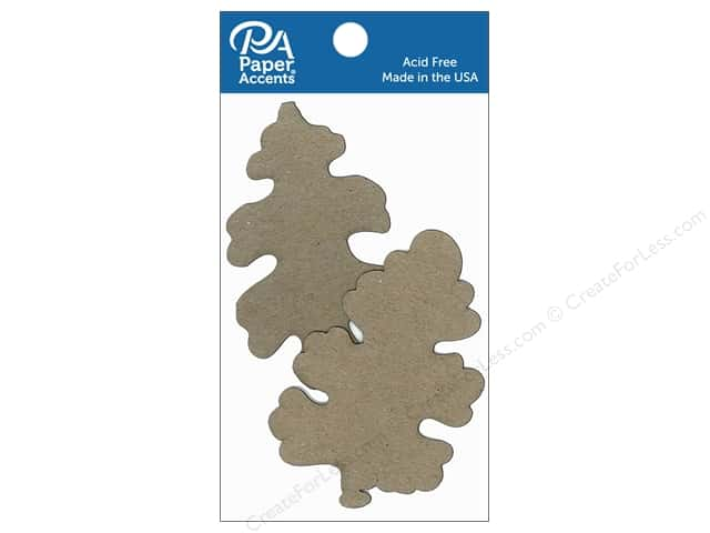 Paper Accents Chipboard Shape Oak Leaves 8 pc. Natural