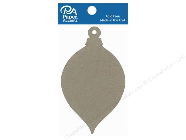 Paper Accents Chipboard Shape Teardrop Ornament #2 8 pc. Natural