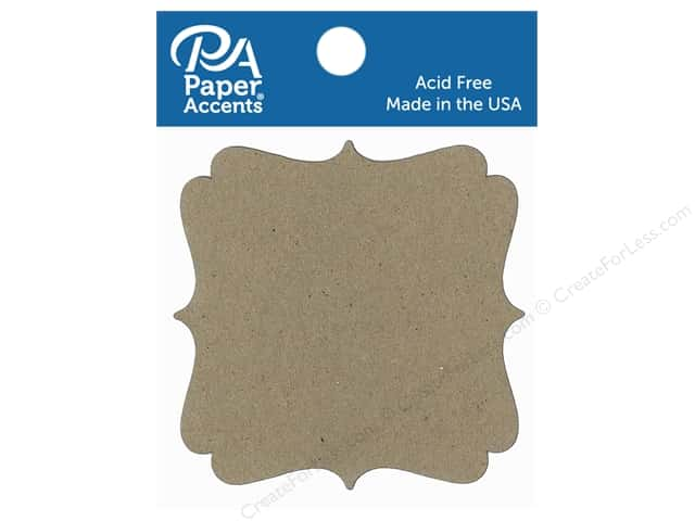 Paper Accents Chipboard Shape Marquee #7 8 pc. Natural
