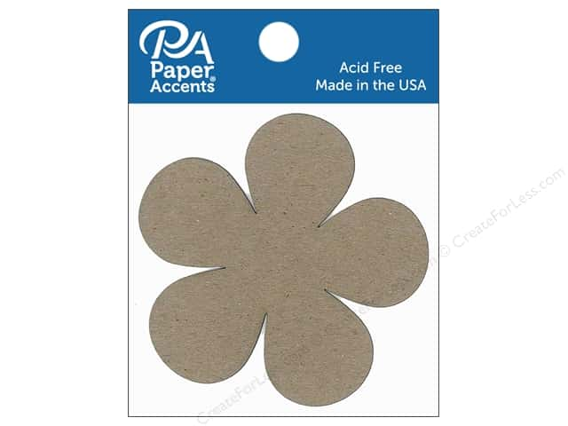 Paper Accents Chipboard Shape Flower Power 8 pc. Natural