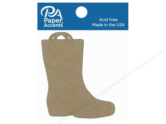 Paper Accents Chipboard Shape Rain Boot 8 pc. Natural