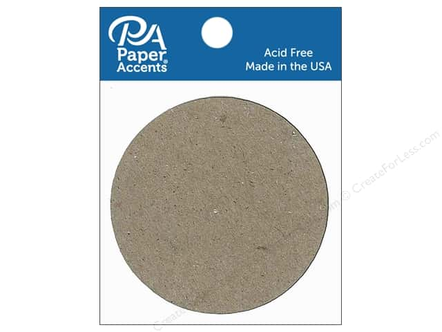 Paper Accents Chipboard Shape Small Circle 8 pc. Natural