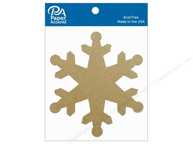 Paper Accents Chipboard Shape Snowflake 8 pc. Natural