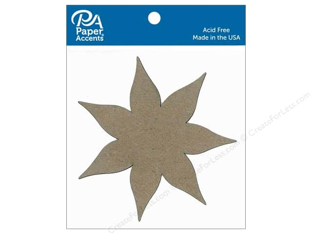 Paper Accents Chipboard Shape Poinsettia 8 pc. Natural