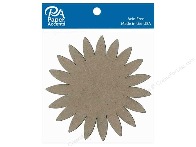 Paper Accents Chipboard Shape Sunflower 8 pc. Natural