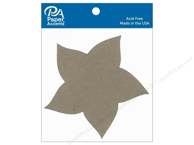 Paper Accents Chipboard Shape Pinwheel 8 pc. Natural
