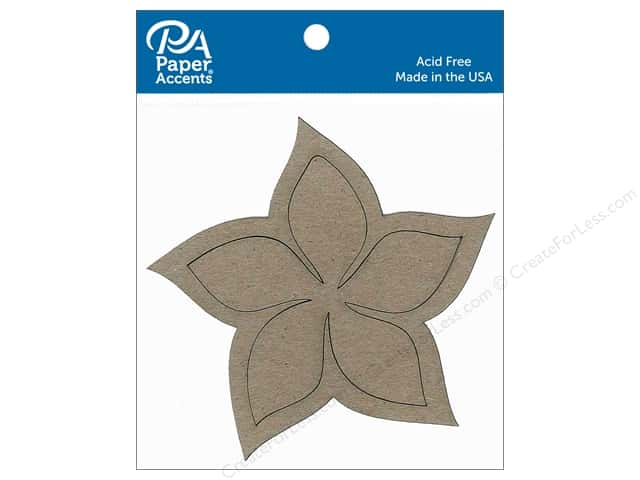 Paper Accents Chipboard Shape Plumeria 8 pc. Natural