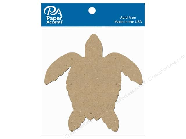Paper Accents Chipboard Shape Sea Turtle 8 pc. Natural