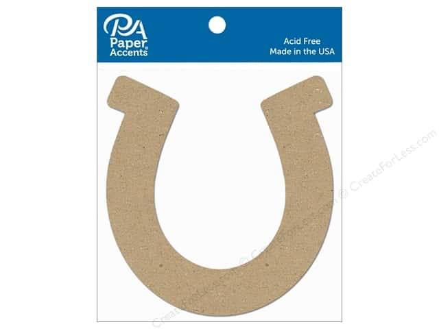 Paper Accents Chipboard Shape Horseshoe 8 pc. Natural