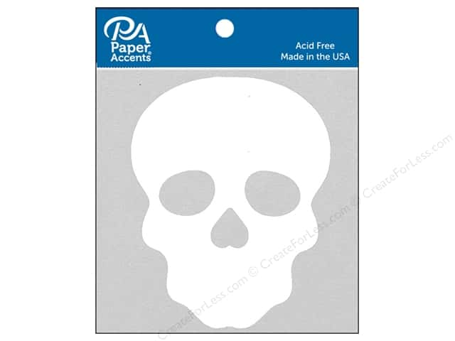 Paper Accents Chipboard Shape Sugar Skull 8 pc. White
