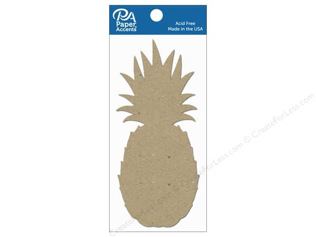 Paper Accents Chipboard Shape Pineapple 8 pc. Natural