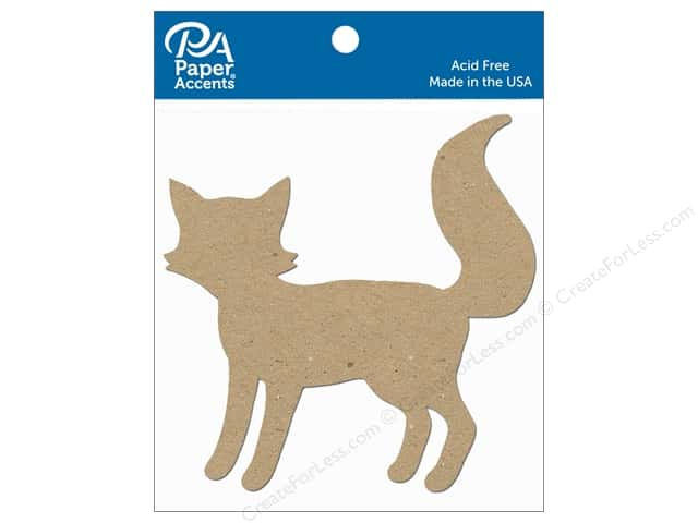 Paper Accents Chipboard Shape Fox 8 pc. Natural