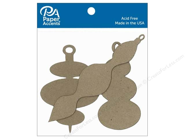Paper Accents Chipboard Shape Ornament Modern Assorted 8 pc. Natural