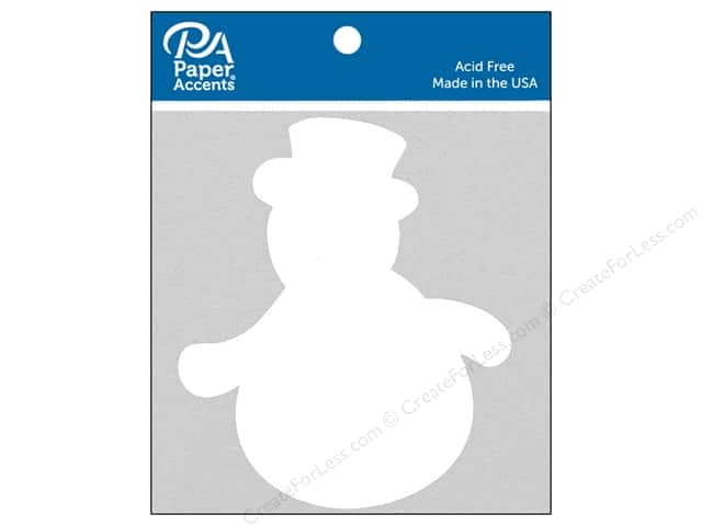 Paper Accents Chipboard Shape Snowman #2 8 pc. White