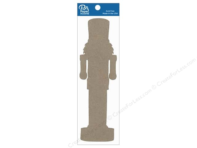 Paper Accents Chipboard Shape 8 in. Nutcracker 4 pc. Natural