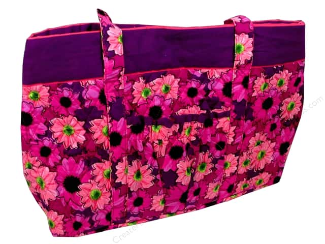 Darice Quilted Fabric Tote Bags - Pink Floral