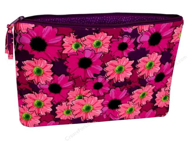 Darice All-Purpose Zippered Fabric Pouch - Pink Floral