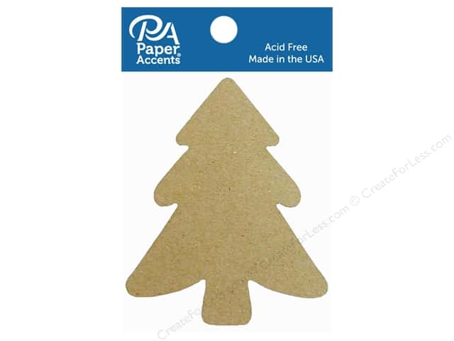 Paper Accents Chipboard Shape Tree 8 pc. Natural