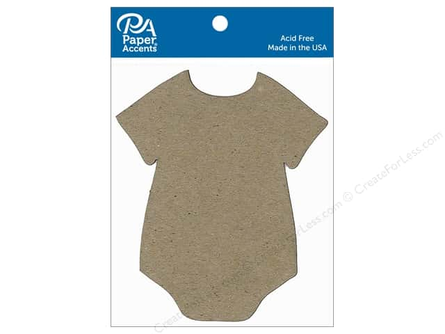 Paper Accents Chipboard Shape Onesie 8 pc. Natural