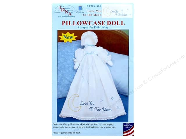Jack Dempsey Pillowcase Doll Kit Love You To Moon