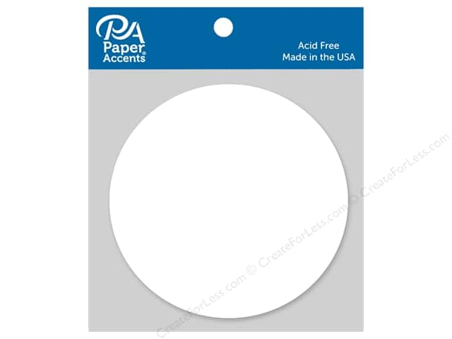 Paper Accents Chipboard Shape Circle 8 pc. White