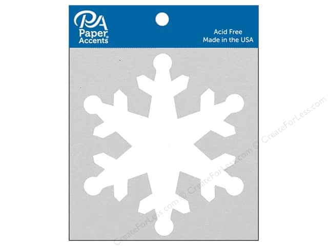 Paper Accents Chipboard Shape Snowflake 8 pc. White
