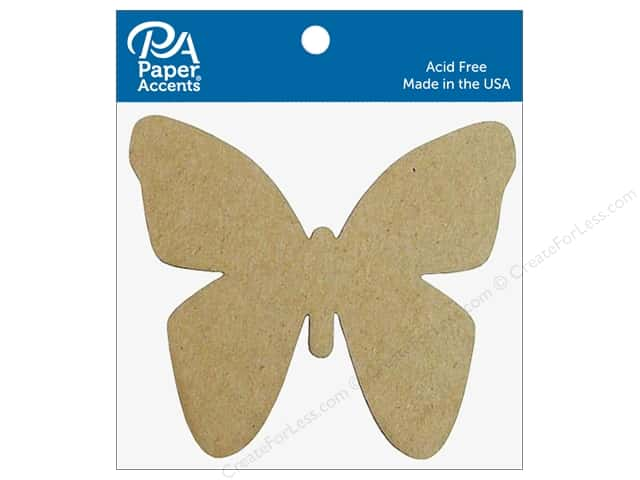Paper Accents Chipboard Shape Butterfly 8 pc. Natural